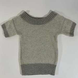 American Eagle Women's Gray Striped Sweater Small
